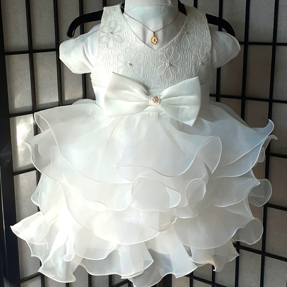 Baby Dress formal Baptismal, party 9-12 months